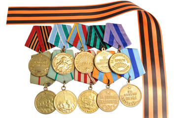 Military soviet medals of Great Patriotic war, Saint George ribb