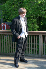 Tuxedo Teen Full Length Hands In Pockets