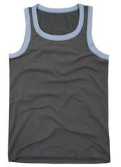 Sleeveless unisex shirt isolated on white