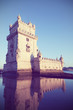 Belem Tower in twilight, Lisbon, Portugal