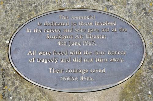 Poster Stockport Air Disaster Memorial