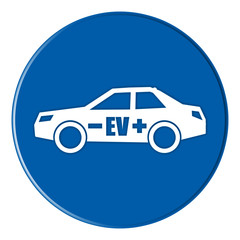 icon - ev electric vehicle - blue - g904