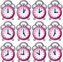 目覚まし時計 121時間 ピンク
