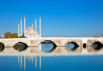The Stone Bridge and Sabanci Mosque, Adana, Turkey