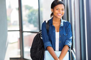 pretty african american university student