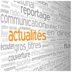 """Nuage de Tags """"ACTUALITES"""" (blog informations en direct médias)"""