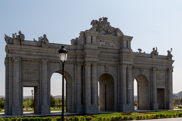 Alcala Gate Park in Europe. Madrid