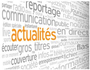 """Nuage de Tags """"ACTUALITES"""" (blog informations médias en direct)"""