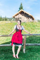 Young Woman in the austrian Alps
