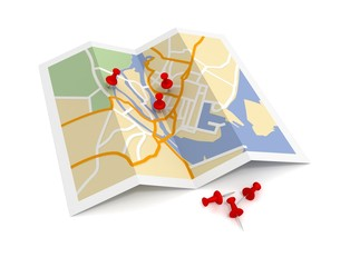 map and pushpin