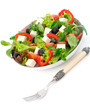 Mediterranean-Style Salad with feta cheese and olives