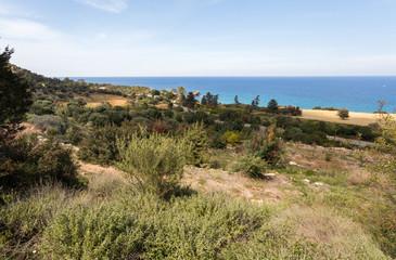 Campagne et côte de méditerrannée