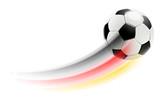 Fototapety Fliegender Fussball - Deutschland Farben