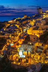 Nighttime in Santorini