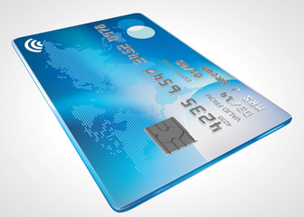 original design for a modern credit card, includes contactless p