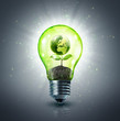 ecological idea - new world in lamp - 64276201