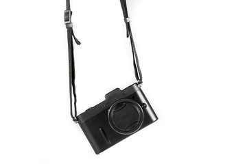 Mini SLR Black Camera Isolate