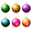 Weihnachtskugeln metallic Set
