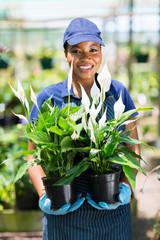 female african florist portrait