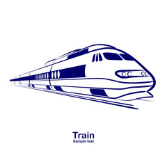 passenger railway speed train vector.illustration