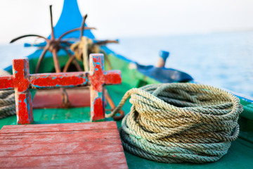 Close up of a fishing boat