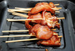 Raw Teriyaki Chicken on a Stick