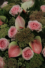 Pink wedding arrangement
