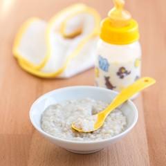 Baby milk and porridge