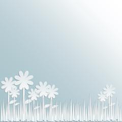 Blumen und Grass aus Papier - Vektor