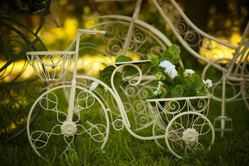 garden bike decoration