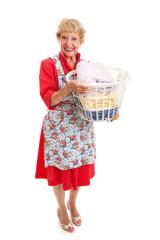 Retro Senior Lady - Laundry