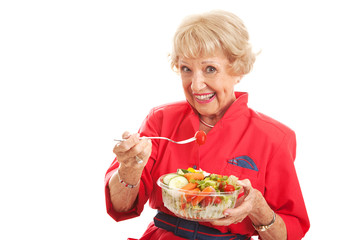 Senior Lady - Healthy Eating