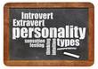 Постер, плакат: personality types on blackboard