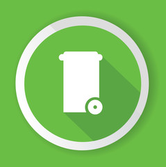 Bin symbol,Green version,vector