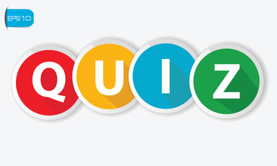 Quiz buttons on white background,vector