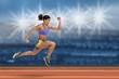 Female Runner in Action