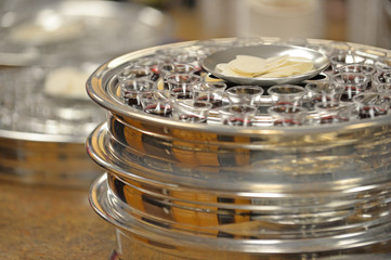 Communion Cups and Waffers