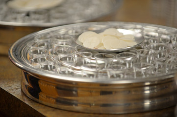 Communion Tray on Table