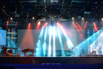 Stage Lights With Musical Instruments