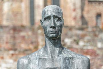 Statue at Kloster Unser Lieben Frauen in Magdeburg, Germany