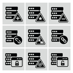 Database icons,vector
