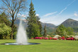 Fountain in a beautiful botanic garden