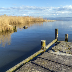 old  landing stage at Achterwasser in Usedom
