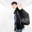 Teenager wave Goodbye