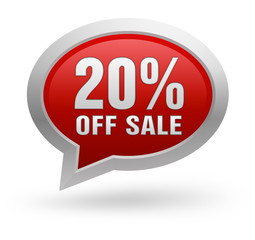 twenty percent off sale