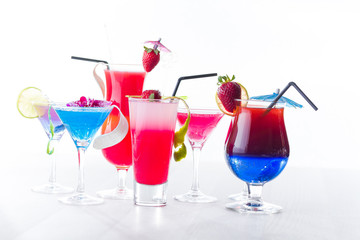 Fresh tropical layered cocktails