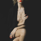 Nude beauty with bright makeup and jewelry - 64284685