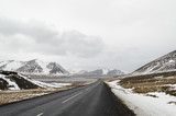 the road to  snaefellsne on the island iceland poster