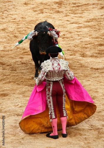 Deurstickers Stierenvechten Torada, Tourada, Corrida