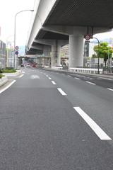 国道43号線と阪神高速3号神戸線